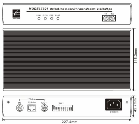Bộ chuyển đổi E1 sang quang MODEL7301