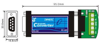 Bộ chuyển đổi Port-powerd RS232 sang RS485/422 SW485C