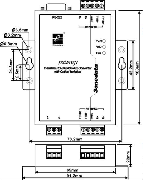 Bộ chuyển đổi cách ly và bộ lặp RS232/485/422 SW485GI